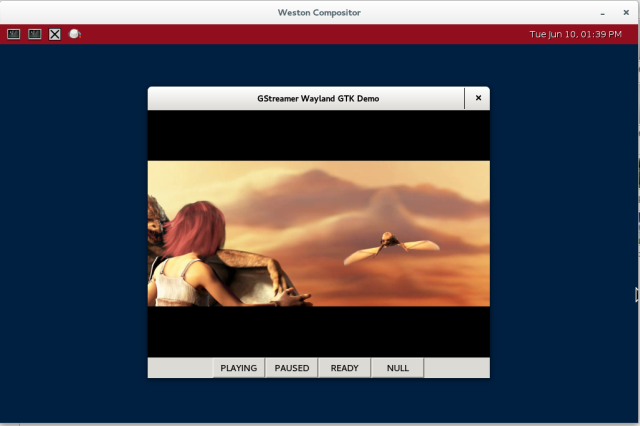 GStreamer Wayland GTK Demo